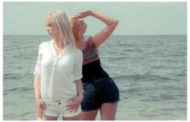 Strand Fotoshooting als Visagistin